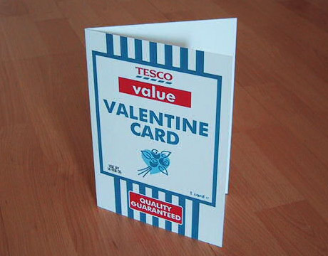 Tesco Value Valentines