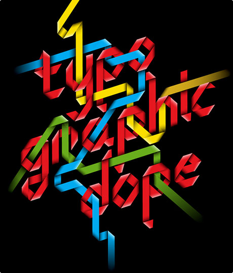 typographic dope by Mootsie