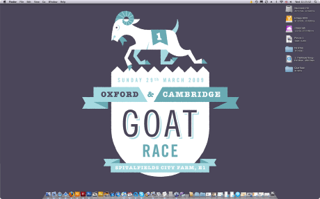 Oxford & cambridge Goat Race - crest desktop