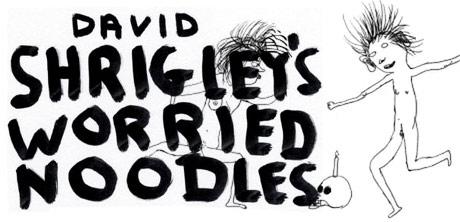 David Shrigley's worried noodles