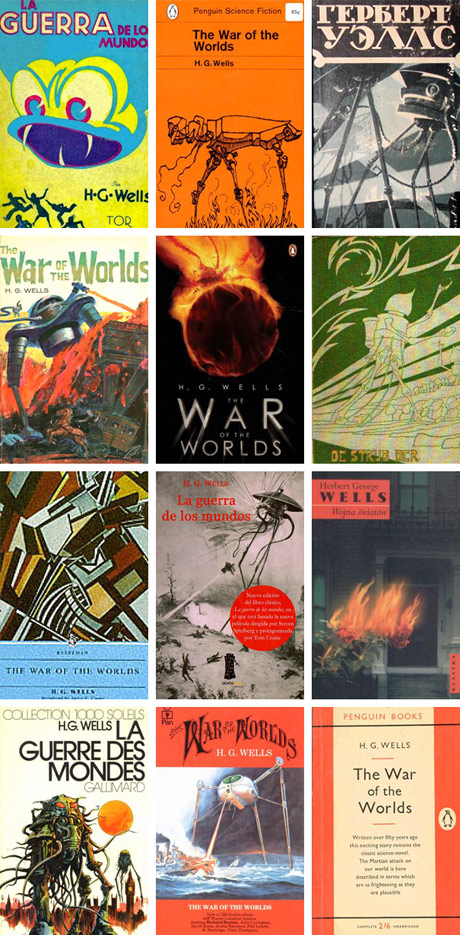 War of the Worlds Book Covers