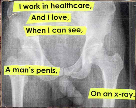 Post Secret - x-ray penis