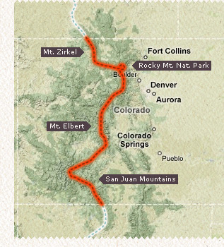 Little map of the Colorado CDT section