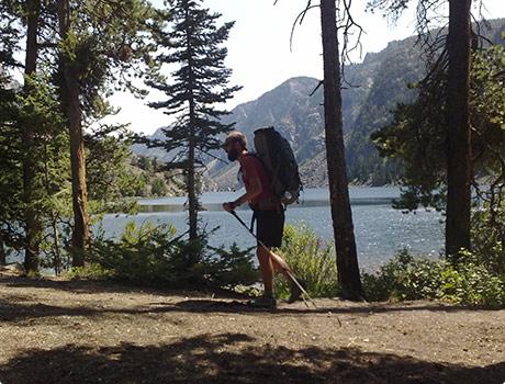 Walking by a lake