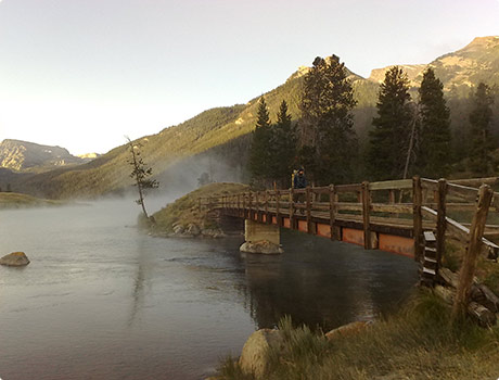 Steam rising from Green Lake