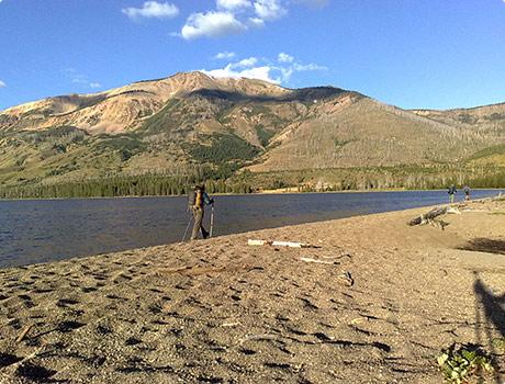 Heart Lake in Yellowstone