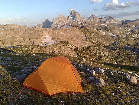 Camping on Littles Peak