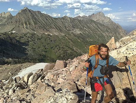 Climbing Littles Peak